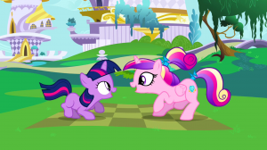 Cadance grew up. Gods don't have puberty.
